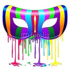 #Carnival #Party #Mask #Psychedelic #Colors #Glowing #Rainbow #Paint-#Vector © bluedarkat-     http://us.fotolia.com/id/47798986/partner/200929677