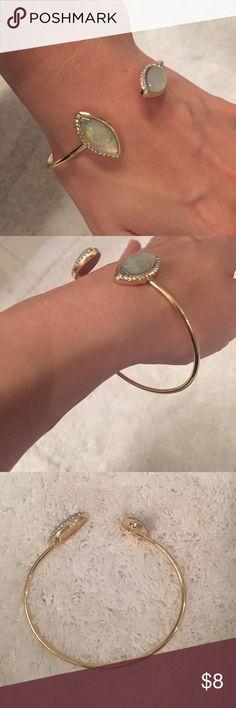 New Pave crystal gold fashion cuff bracelet New cuff bracelet. Fashion jewelry. Shown on my very small wrist. Jewelry Bracelets