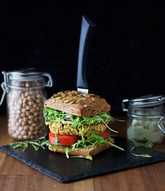 Chickpea Burger with Avocado Mayo