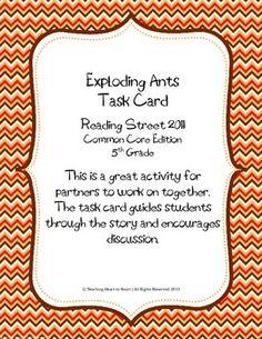Reading Street - Exploding Ants Vocabulary Flashcards ...