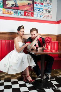 rockabilly wedding cherry wedding diner wedding rockabilly love rockabilly life