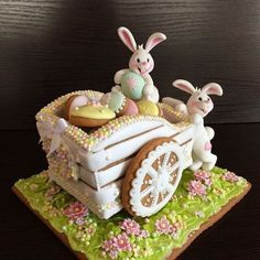 New cupcakes easter decoration cookie tutorials 15 ideas - Cupcakee Ideen Fancy Cookies, Iced Cookies, Cupcake Cookies, Sugar Cookies, Easter Cupcakes, Easter Cookies, Easter Treats, 3d Easter Cake, Desserts Ostern