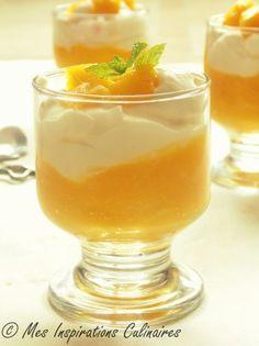 Dessert a la mangue et meringue exotique