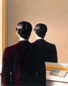 Rene Magritte - Not to be Reproduced (1937)