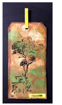 Chocolate Baroque - Tall tree rubber stamp