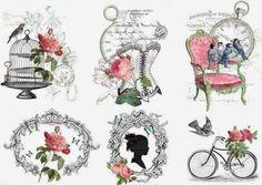 Decoupage Agnes76: Grafikus transzferek a stílus Shabby Chic