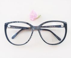 b73d24114eb 80s KRIZIA frames   Vintage dead stock oversized eyeglasses   hipster  designer hand made striped eye glasses   made in Italy eyeglass