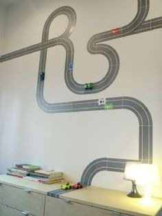 Race Track wall decal