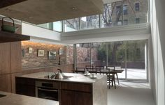 Renovated Historical Building in New York City : Wonderful Kitchen With Glasses Door