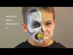 Skull face painting design video tutorial by Jinny. All face paint supplies used from http://www.facepaintingtips.com