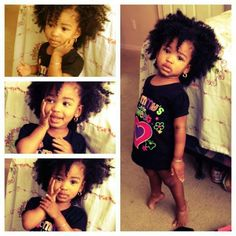 She'll rock natural hair like this!