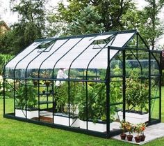 Vitavia Saturn 8ft 5ins wide green framed aluminium greenhouses... The Jupiter is Vitavia�s premium greenhouse and is available in fou...