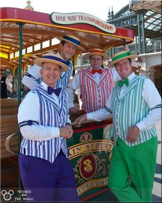 The Dapper Dans on Main Street, USA--- fellas are switching their colors with me!