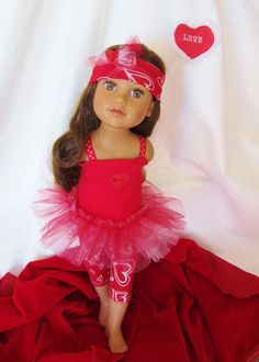 American Girl Doll Clothes  TuTu Love 3 PC by HauteDesignsByNorine