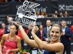 10/16/16  Slovakia's Dominika Cibulkova Is Singapore Bound ...LINZ, Austria (AP) — Dominika Cibulkova won her third title of the season and seventh overall by beating Viktorija Golubic of Switzerland 6-3, 7-5 in the Generali Ladies final on Sunday.
