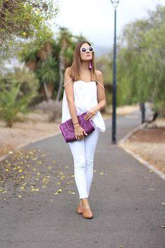 COMO COMBINAR PENDIENTES DE BORLAS. TASSEL EARRINGS. SUMMER LOOKS. #summer #tassel #earrings #white #mulet #ootd #streetstyle #fashion #moda #inspiration #monday  http://www.marilynsclosetblog.com/2017/09/tassel-earrings.html http://lb.nu/marilynscloset  #bohemian #casual #chic