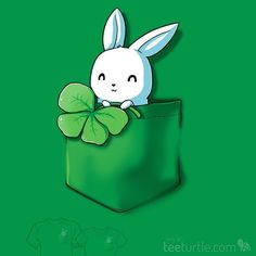 """You just found your new lucky shirt. BUNNY! """"Lucky Pocket"""" is on sale now for a limited time!"""