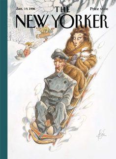 The New Yorker January 1998, illustration Peter de Sève