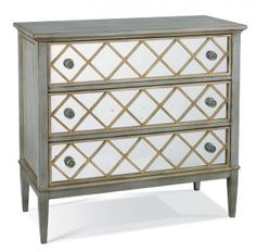 Hickory White - 245-62D  $4650 - $5400+ Crazy! Tracery Chest with Diamond Overlay