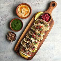 Sumac & Za'atar Cauliflower Tacos with Baba Ganoush, Chimichurri and Fried…
