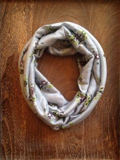 Gray Floral Baby/Child Infinity Scarf