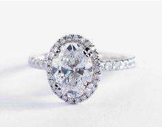 1.8 Carat Oval Diamond in the Blue Nile Studio Oval Cut Heiress Halo Diamond Engagement Ring | Blue Nile