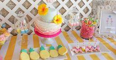 Dessert Table Details from a Flamingo pineapple themed birthday party via Kara's Party Ideas   KarasPartyIdeas.com (1)