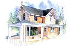 Craftsman Style House Plan - 2 Beds 1 Baths 910 Sq/Ft Plan #479-5 Exterior - Front Elevation - Houseplans.com