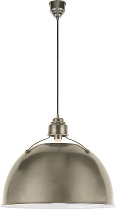 "LARGE EUGENE PENDANT LIGHT Antique Nickel | Circa Lighting  21"" dia. $588"