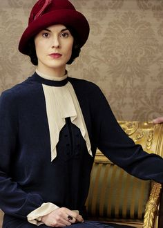 Michelle Dockery as Mary Crawley in Series Five of Downton Abbey