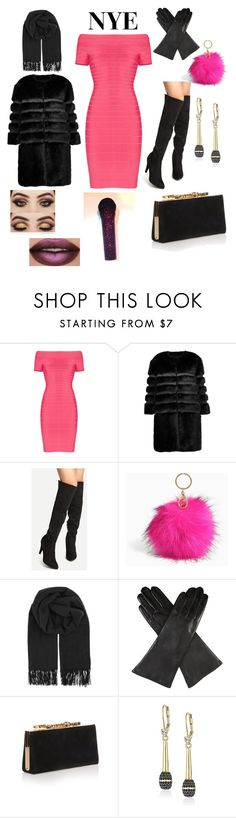 """""""Rock out"""" by briannaduffin ❤ liked on Polyvore featuring Hervé Léger, AINEA, Torrid, BeckSöndergaard, Dents, Jimmy Choo and Kate Spade"""