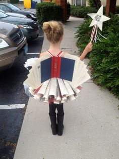 """Looking for a bookish Halloween or book week costume. Try a """"diction-fairy""""? Costume Halloween, Theme Halloween, Holidays Halloween, Cool Costumes, Happy Halloween, Costume Ideas, Homemade Halloween, Halloween Fairy, Unique Costumes"""