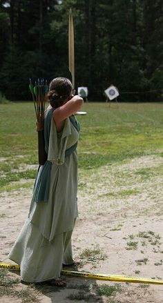 Archery in a nice dress....one of my goals in life