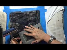 ▶ Gelli Printing T-Shirt Project Pt 2 - YouTube