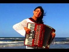 WIESŁAWA DUDKOWIAK - with Accordion on Beach 2 ,  The most beautiful rel...