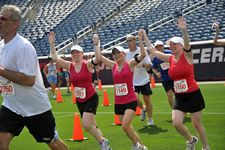 We're thrilled to serve as the first-ever beneficiary of the Harvard Pilgrim Finish at the 50, a popular road race and three-day celebration that take place every July at Patriot Place in Foxborough, Massachusetts.  This year's event, scheduled for July 1-3, will feature a 5K and 10K run, a Kid's Fun Run, and free family-fun activities around Patriot Place such as a Health and Fitness Expo, bounce houses, live music, and face painting.