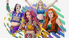 WWE is undergoing a massive change, thanks, in no small part, to the Four Horsewomen—four preternaturally fierce and gifted wrestlers who frequently outshine their male counterparts. Meet Sasha Banks, Becky Lynch, Charlotte, and Bayley, who are quickly ushering in a new era.