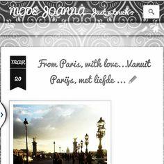 New on my blog