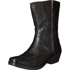 Bogs 2275 Womens Gretchen Black Leather Mid-Calf Boots Shoes 8 Medium (BM) BHFO
