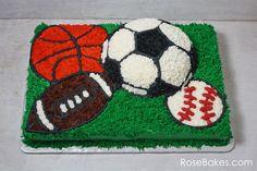 Sports Balls Birthday Cake