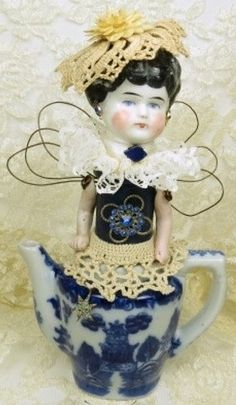Assemblage Angel Tea for Two Assemblage Art by ferrytalesgifts