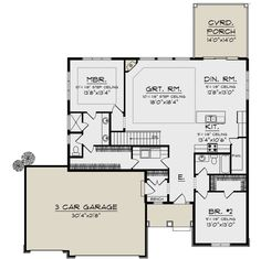 Ranch Plan: Square Feet, 2 Bedrooms, 2 Bathrooms – Ranch Plan: Square Feet, 2 Bedrooms, 2 Bathrooms – Pin: 1000 x 996 2 Bedroom House Plans, Lake House Plans, Ranch House Plans, Cottage House Plans, Craftsman House Plans, Country House Plans, Dream House Plans, Modern House Plans, Small House Plans