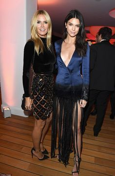 Professional posers: Kendal was seen getting the seal of approval from supermodel Heidi Klum as the pair posed together for a stunning snap