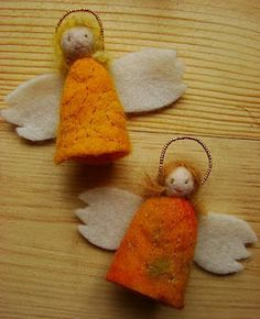 for the advent calendar: felt angels
