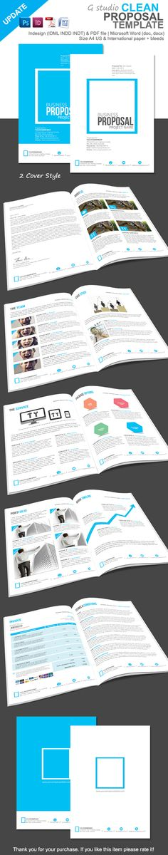 3 Proposal Bundle Template Cleanses, Creative and Template - purchase proposal templates
