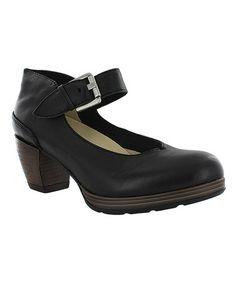 Look what I found on #zulily! Black Aya Leather Mary Jane #zulilyfinds