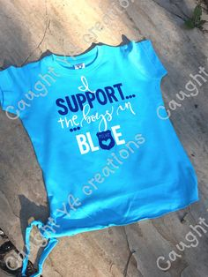 Cute Toddler Girl Support The Boys In Blue by CaughtYACreations