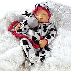 Paradise Galleries Weighted Realistic Sleeping Baby Doll, Over The Moooon, 19 inch Vinyl