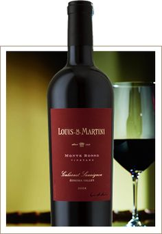 Monte Rosso Vineyard Cabernet Sauvignon: A full-bodied wine revealing flavors of melted chocolate, black cherry, and earthy aromatics with accents of anise and brown spice. $85