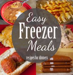 Recipes for more than a dozen inexpensive and easy freezer meals for dinner time!